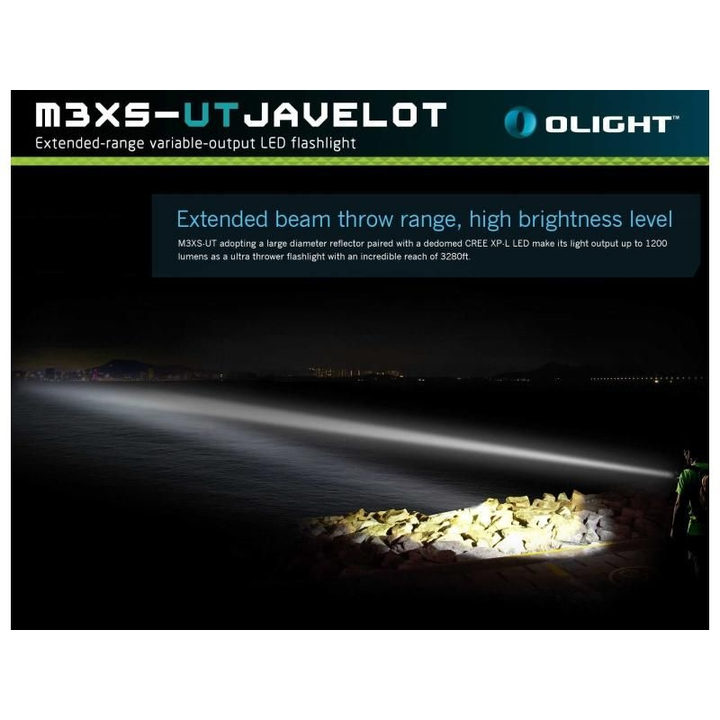 LED baterka Olight M3XS-UT Javelot 1200 lm 7