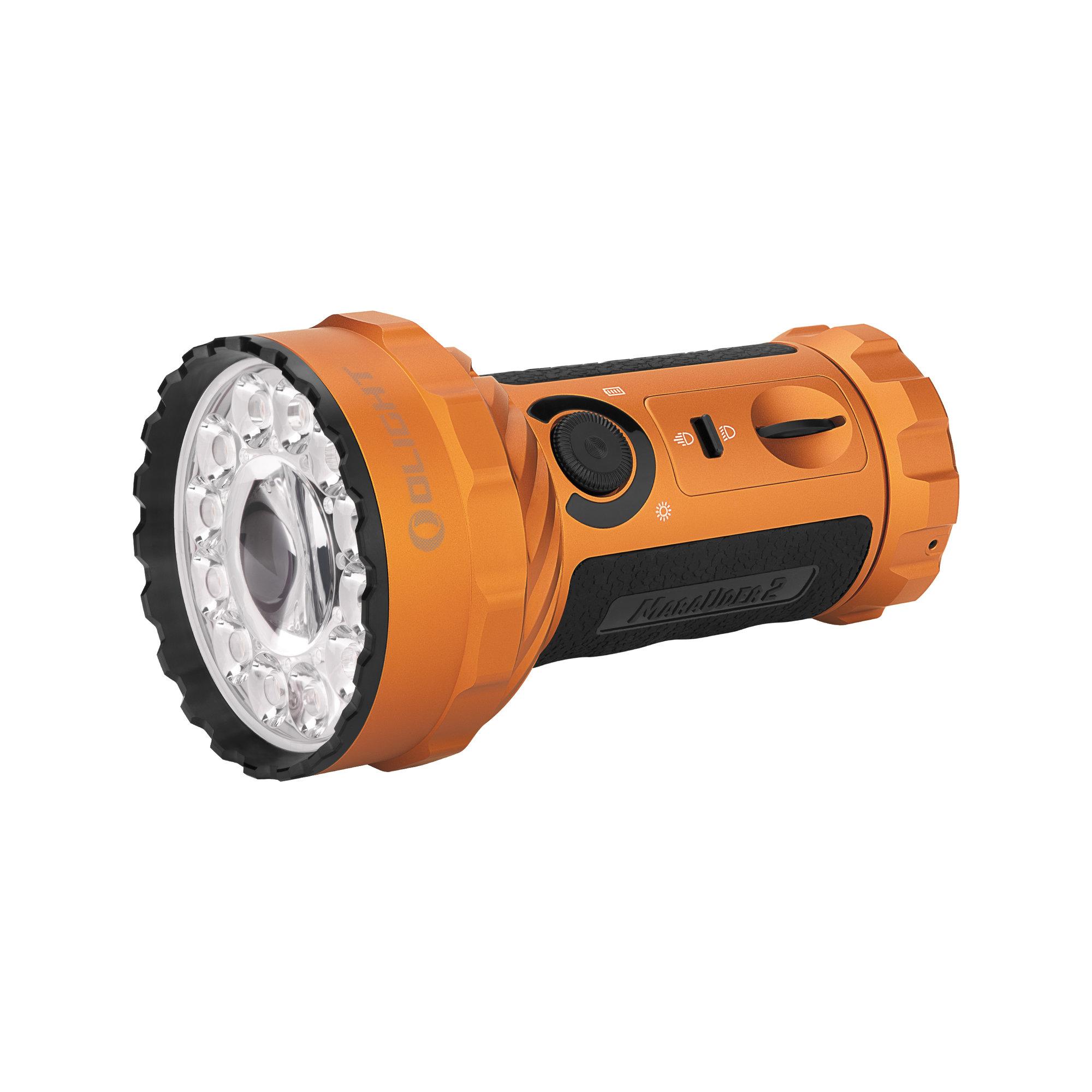 LED baterka Olight Marauder 2 14000 lm s možnosťou bodového svietenia orange - limitovaná edícia