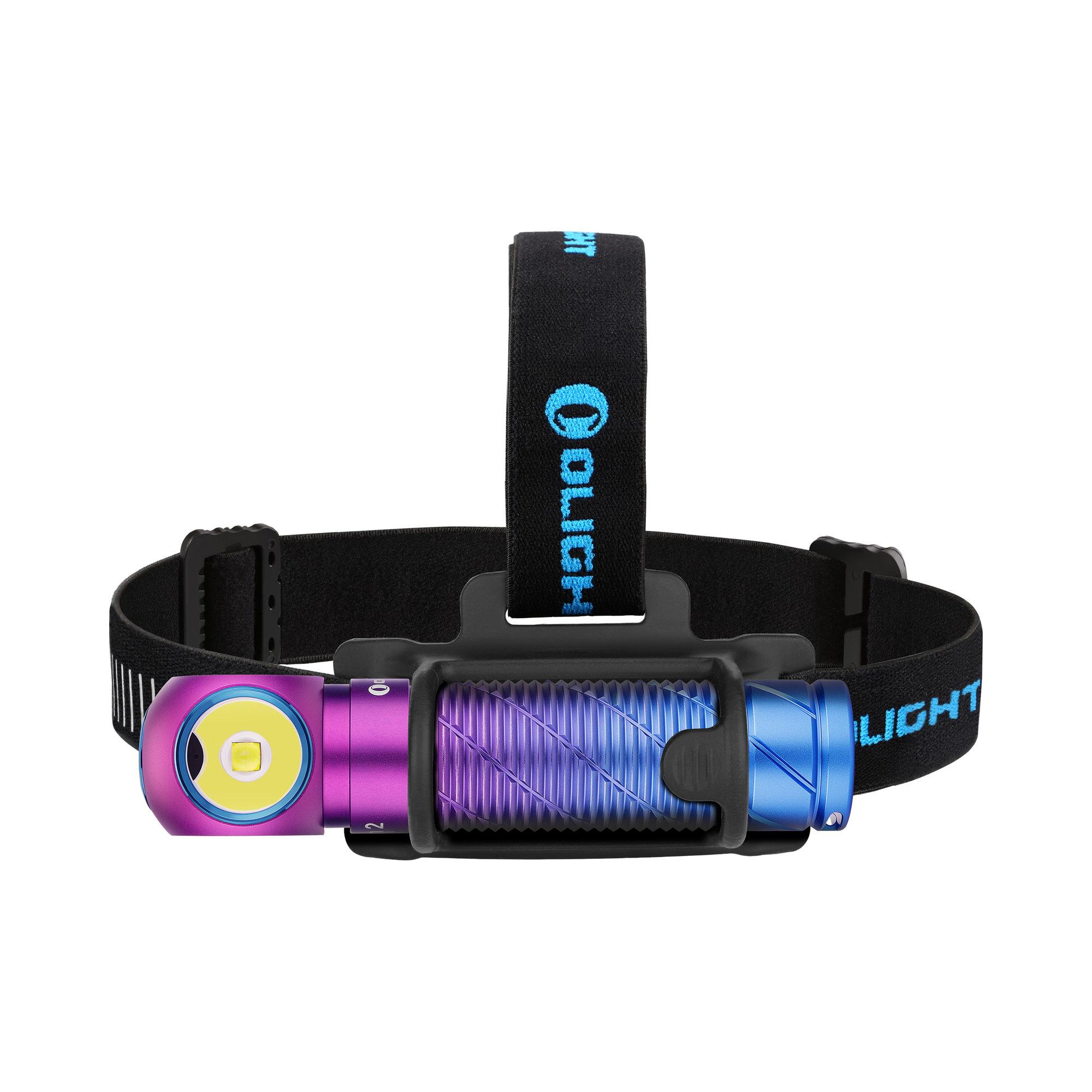 Nabíjateľná LED čelovka Olight Perun 2 Kit Purple gradient 2500 lm - limitovaná edícia