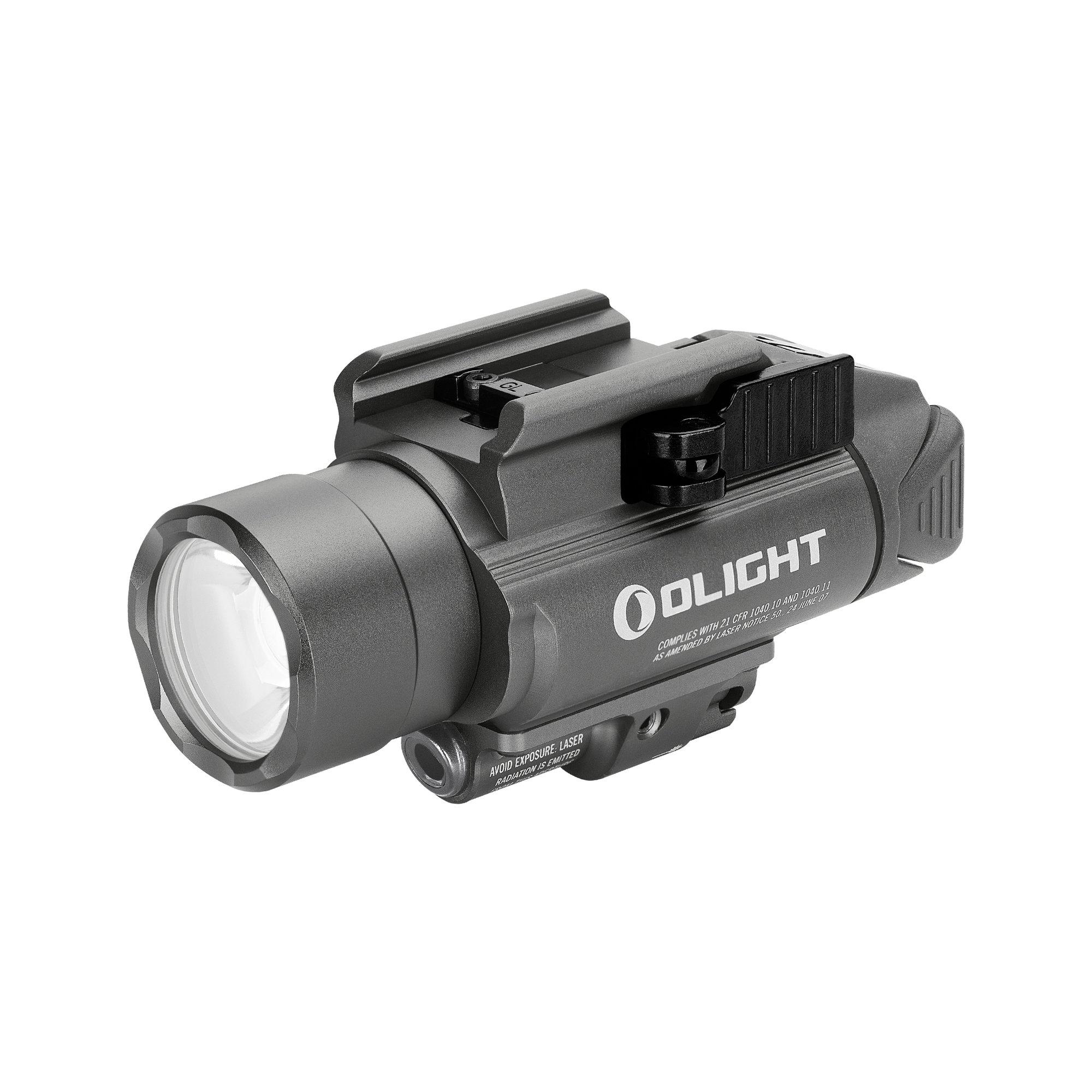 Svetlo na zbraň Olight BALDR Pro 1350 lm - zelený laser gunmetal grey limitovaná edícia