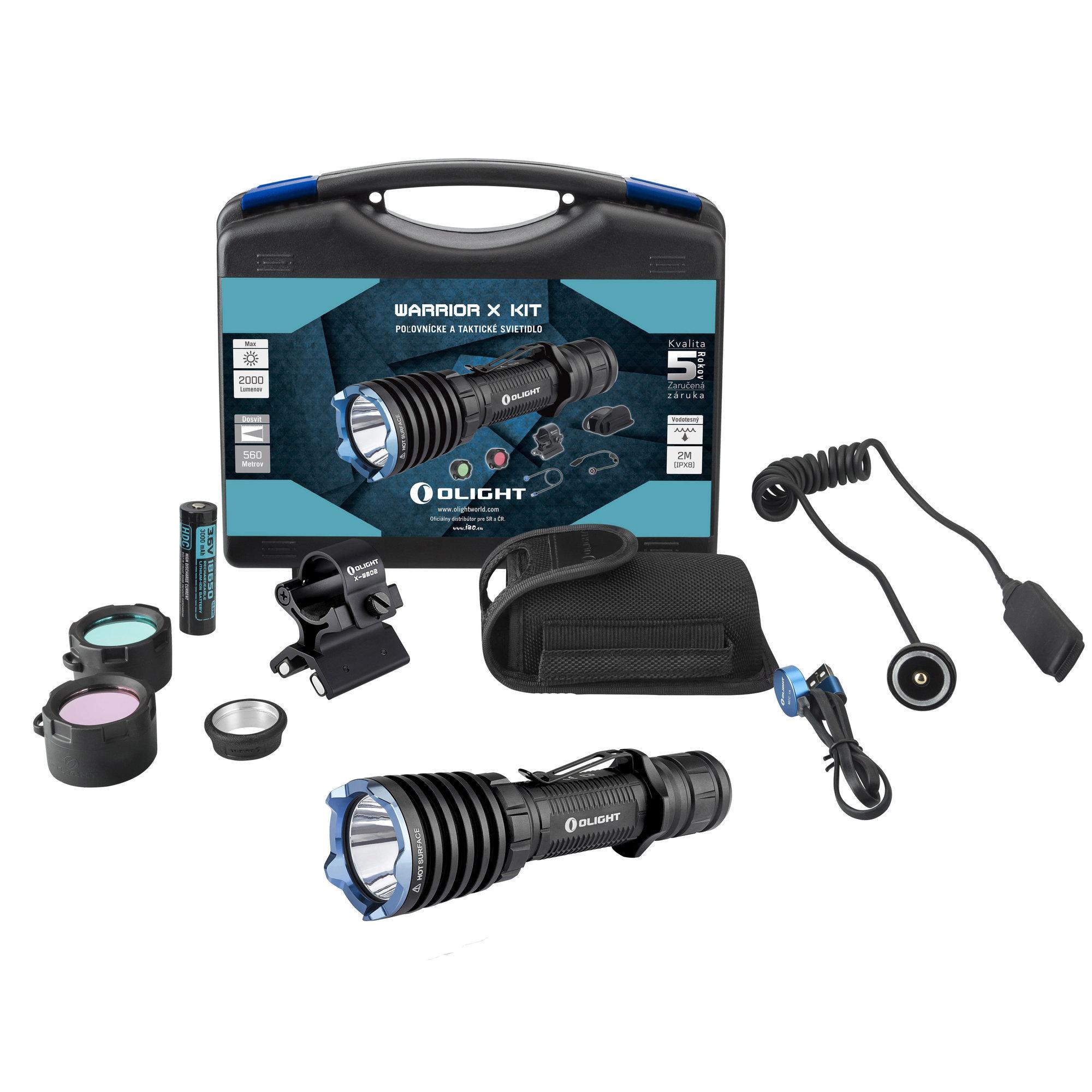 Poľovnícka LED baterka Olight Warrior X KIT 2000 lm