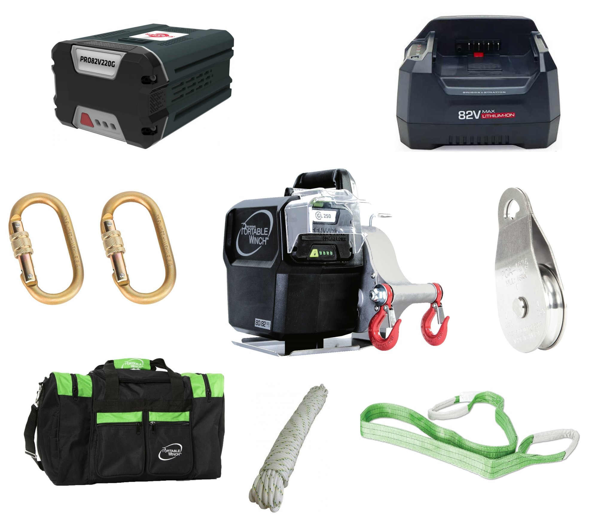 Aku Basic set Portable Winch PCW3000-Li Akku Lader