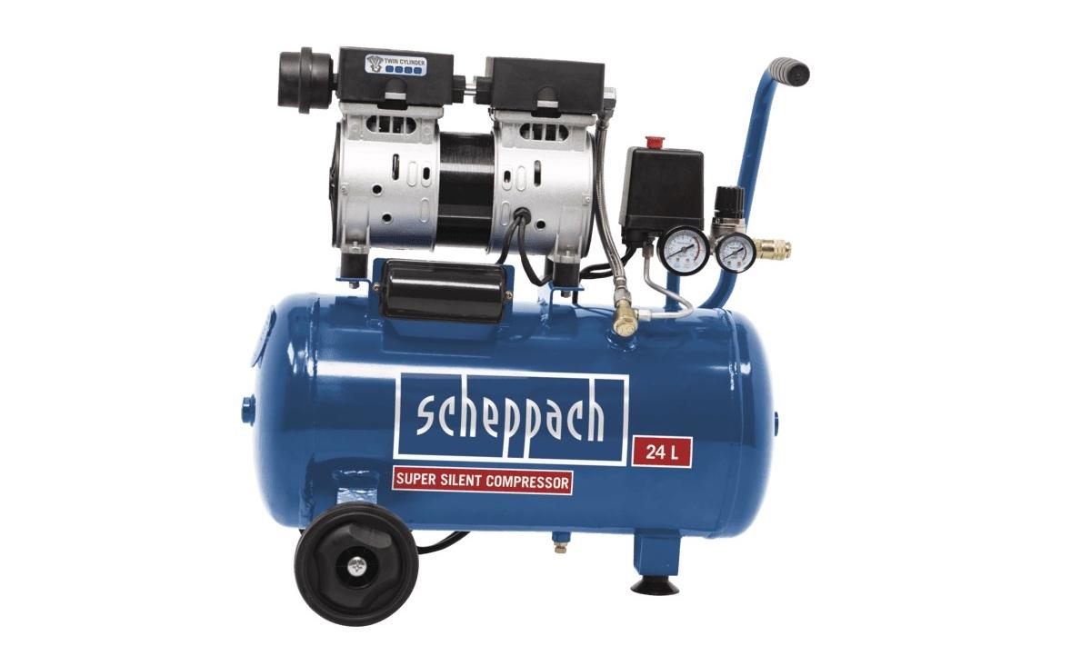 Tichý bezolejový dvojvalcový kompresor SCHEPPACH HC 24 Si