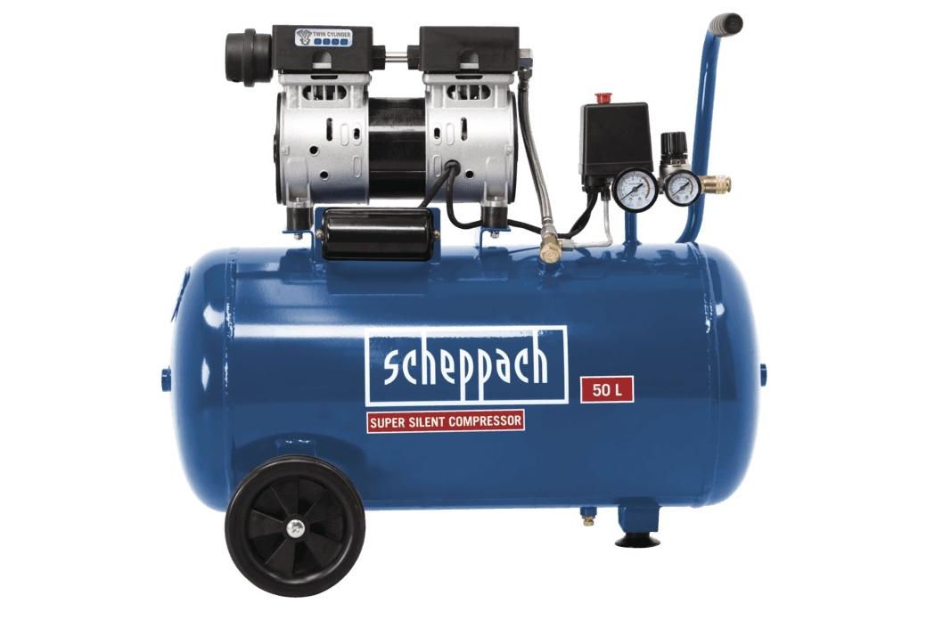 Tichý bezolejový dvojvalcový kompresor SCHEPPACH HC 50 Si