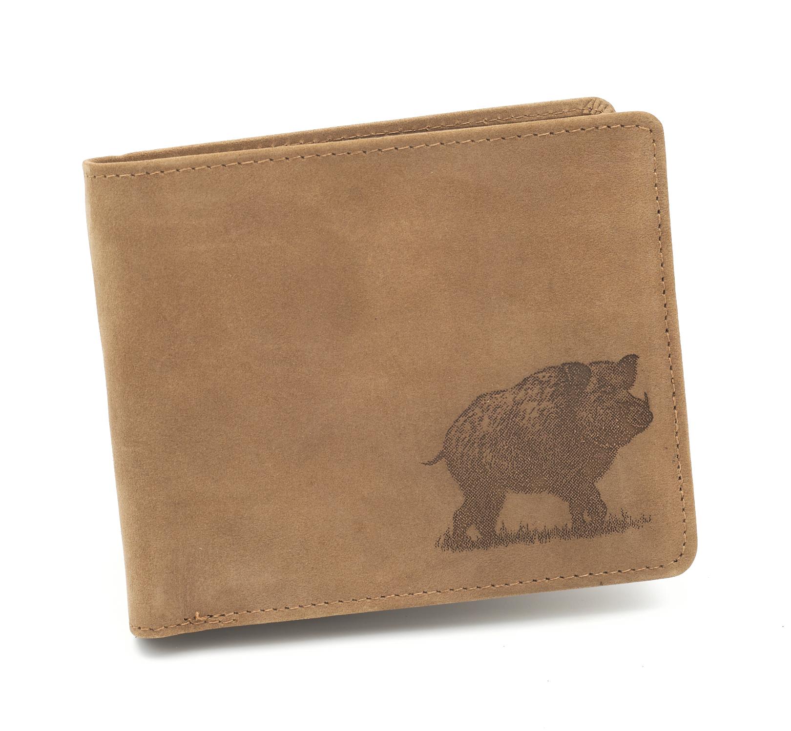 Kožená peňaženka diviak ležatá