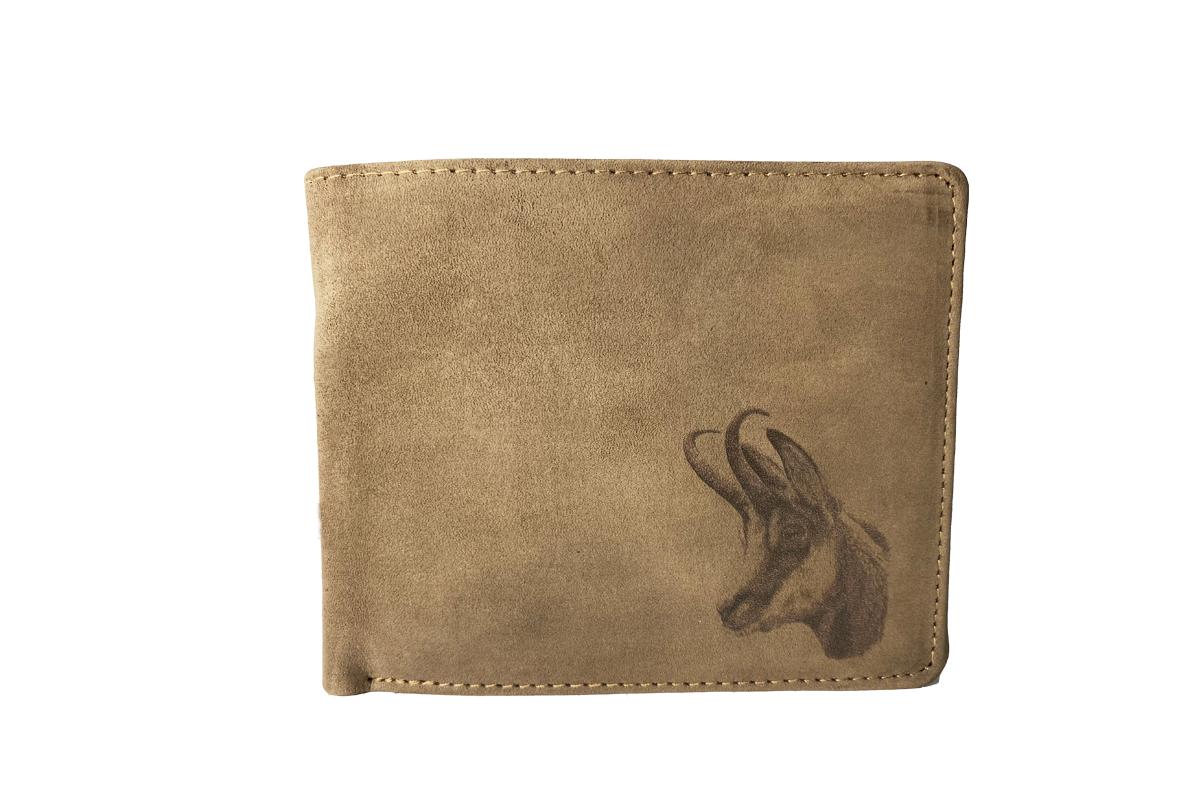 Kožená peňaženka kamzík ležatá