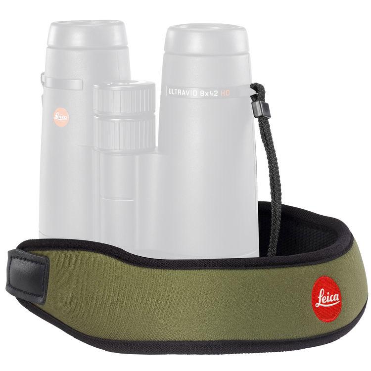 Neoprénový binokulárny popruh na krk Leica - olivovo zelený