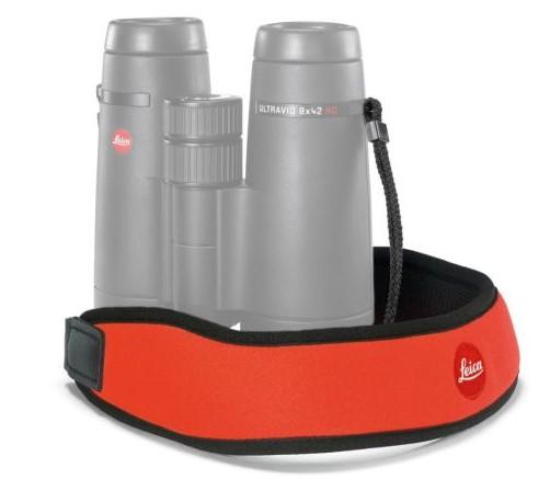 Neoprénový binokulárny popruh na krk Leica - oranžový