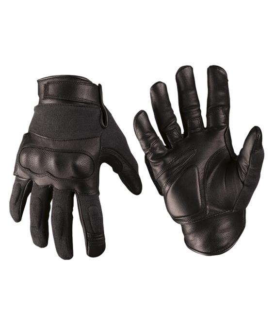 Taktické rukavice Mil-Tec čierne kožené