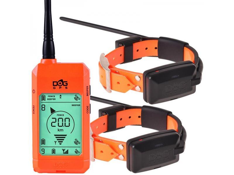 Satelitný GPS lokátor Dogtrace DOG GPS X22 sada pre dva psy - Oranžový