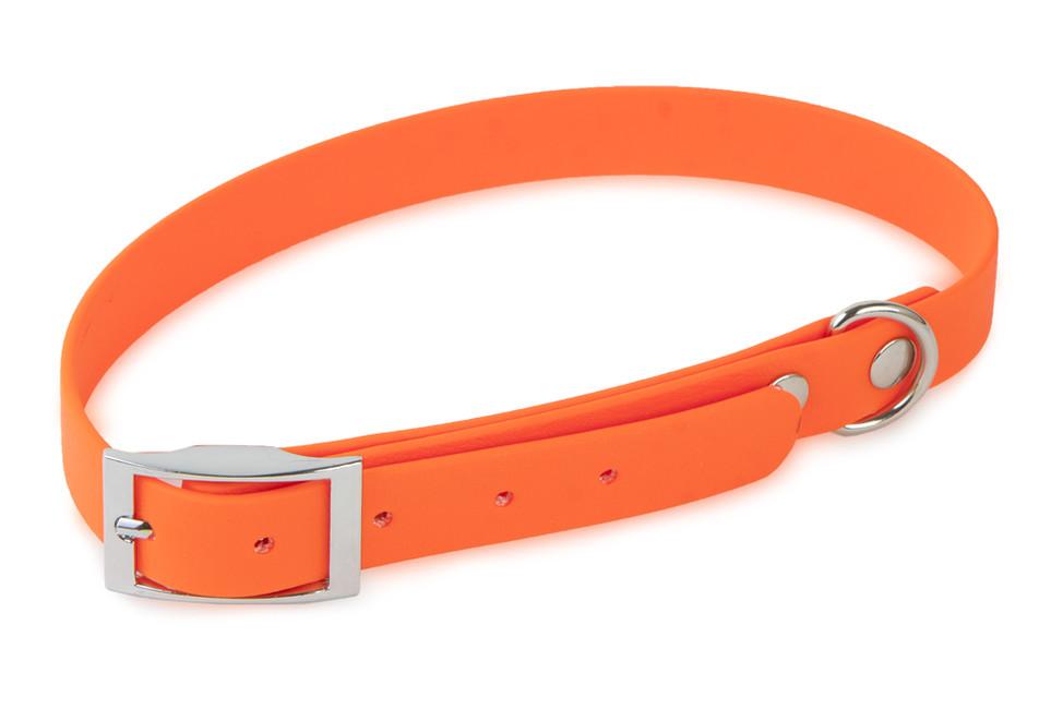 Obojok TETRAO Biothane oranžový 65 cm