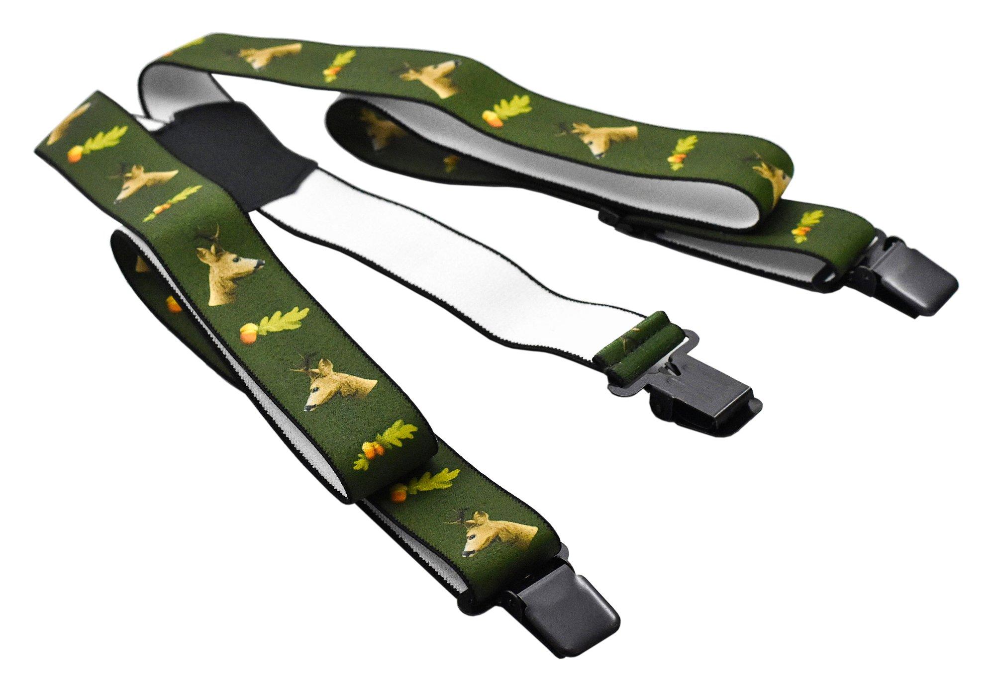 Poľovnícke traky s klipami 3 cm, potlač