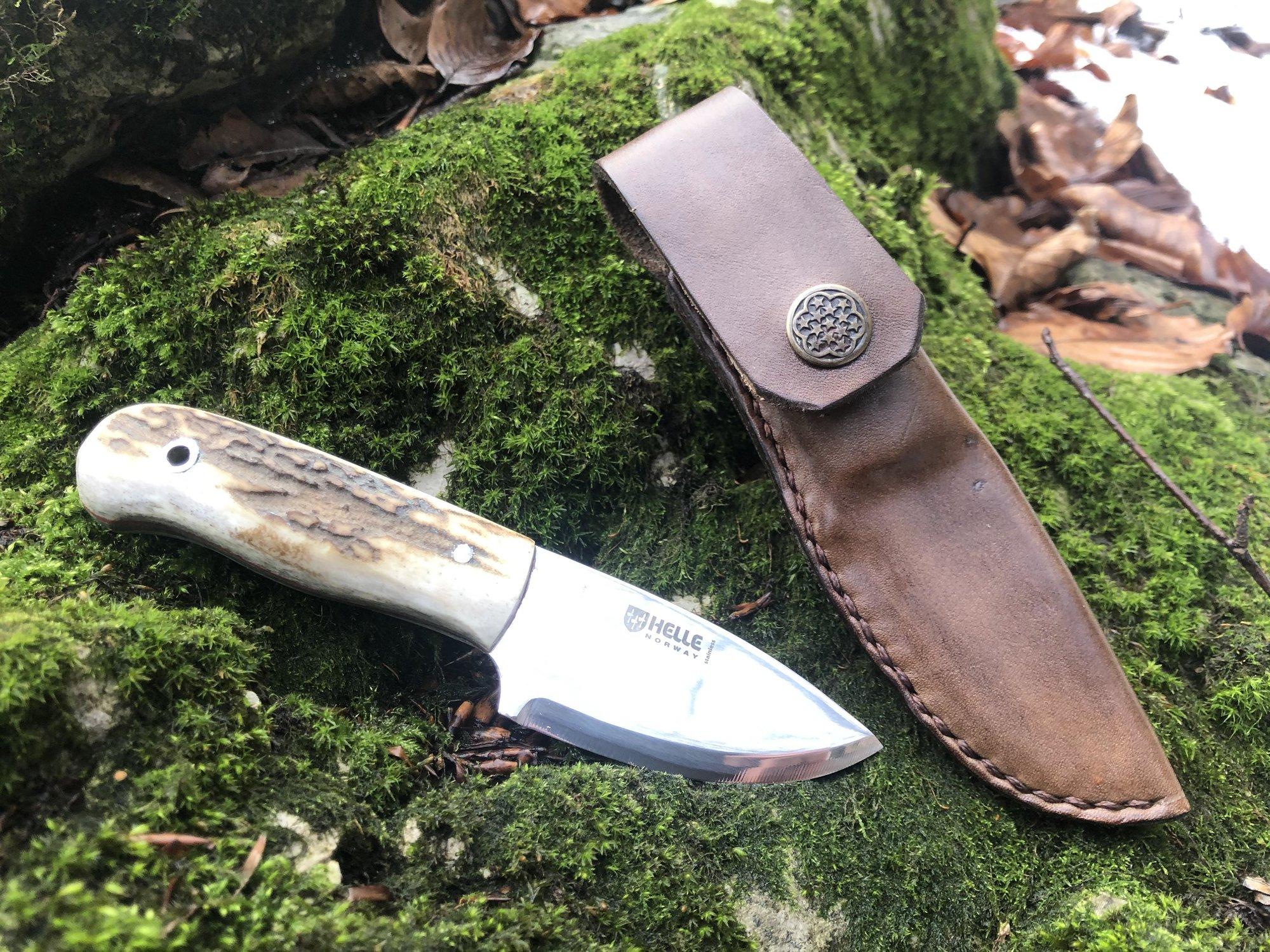 Poľovnícky nôž Helle Mandra paroh