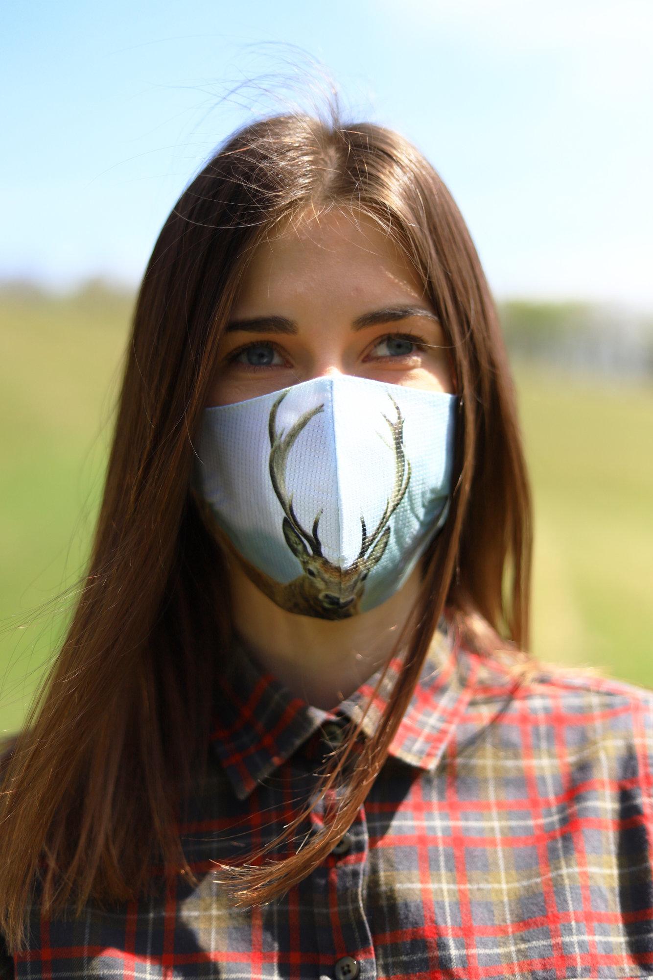 TETRAO bavlnená ochranná maska na tvár - jeleň