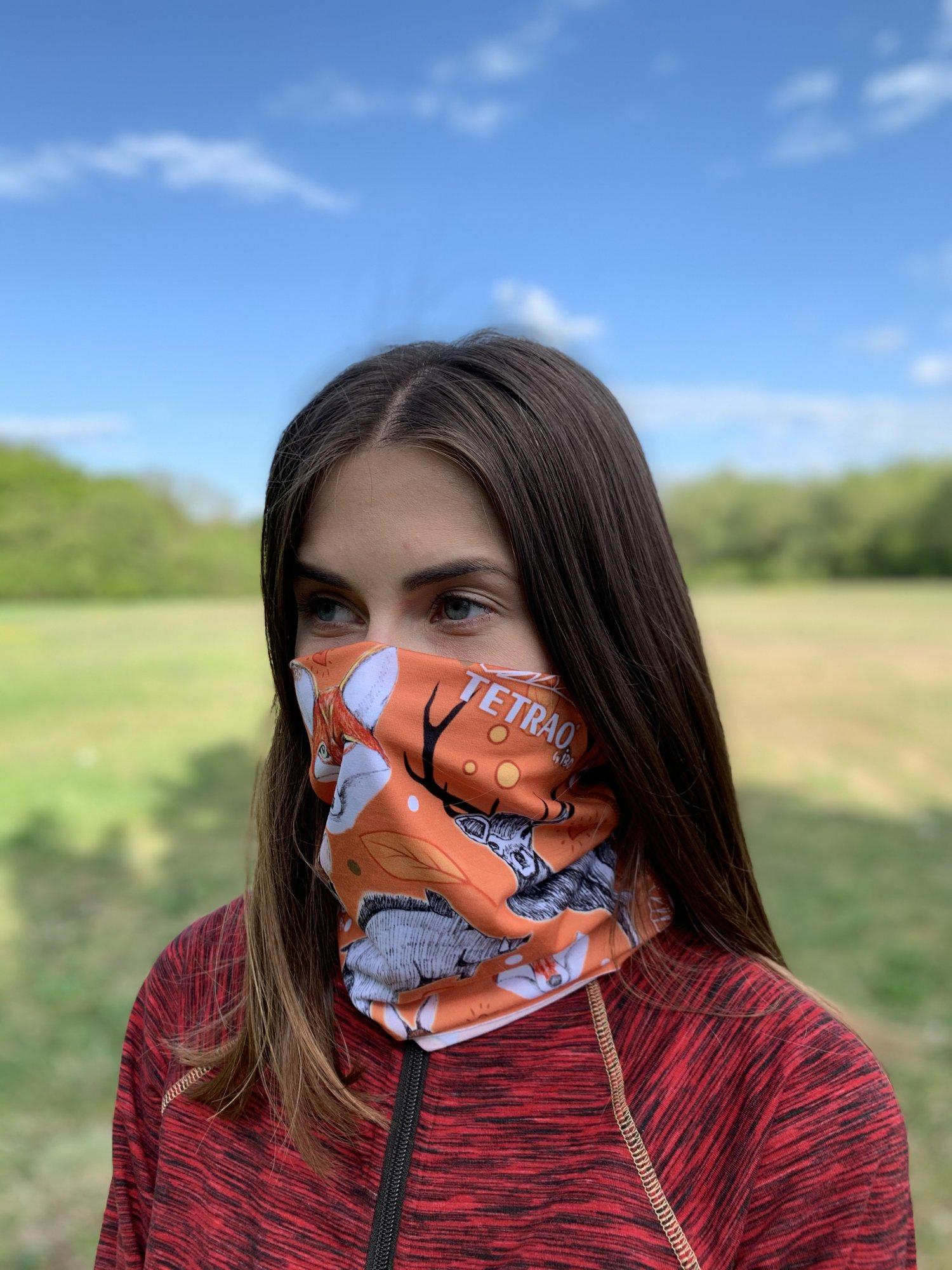 Multifunkčná šatka na tvár Bufka TETRAO oranžová líška