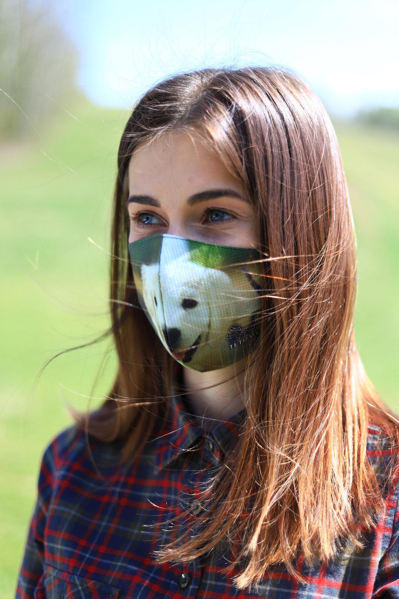TETRAO bavlnená ochranná maska na tvár - detské
