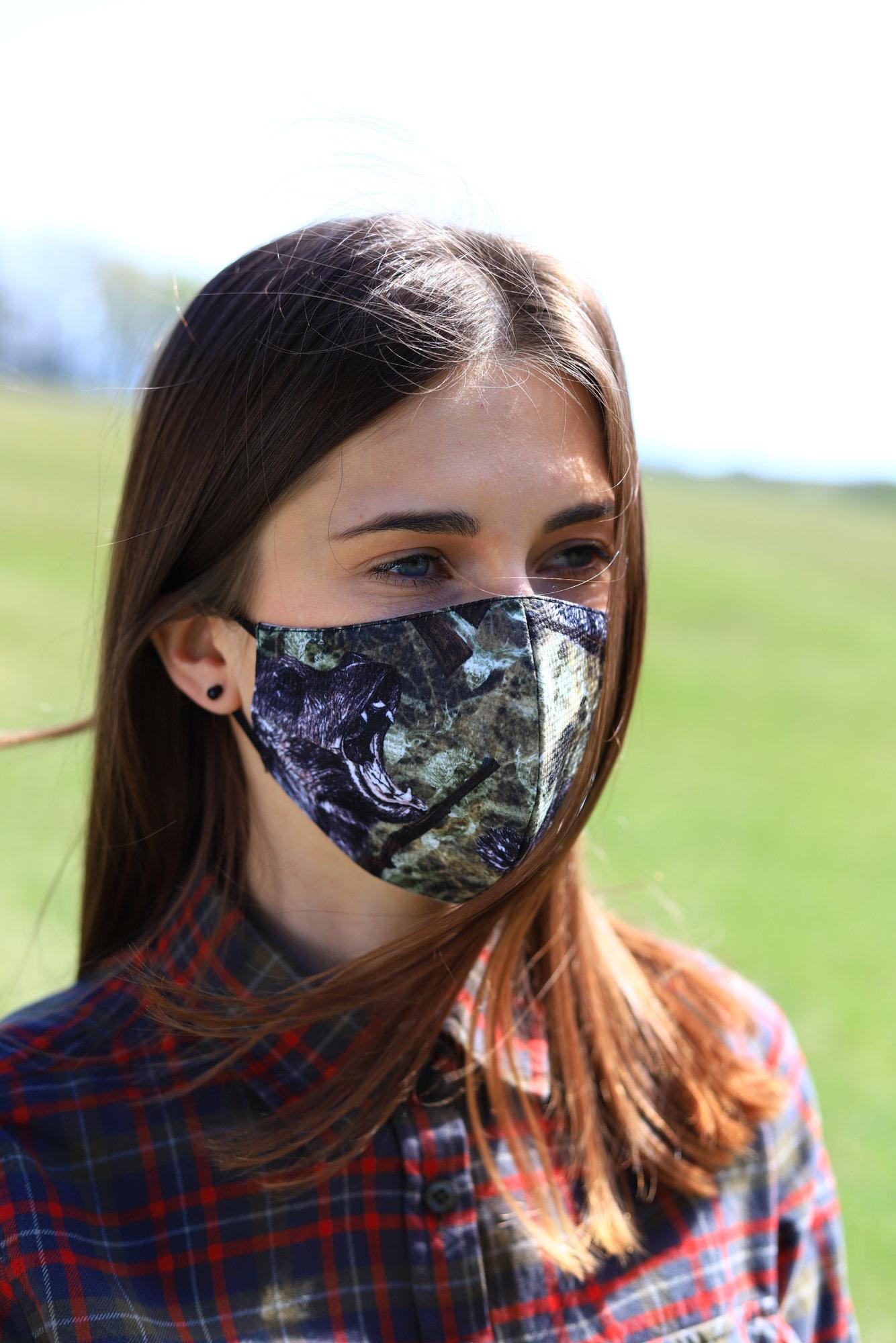 TETRAO bavlnená ochranná maska na tvár - medveď