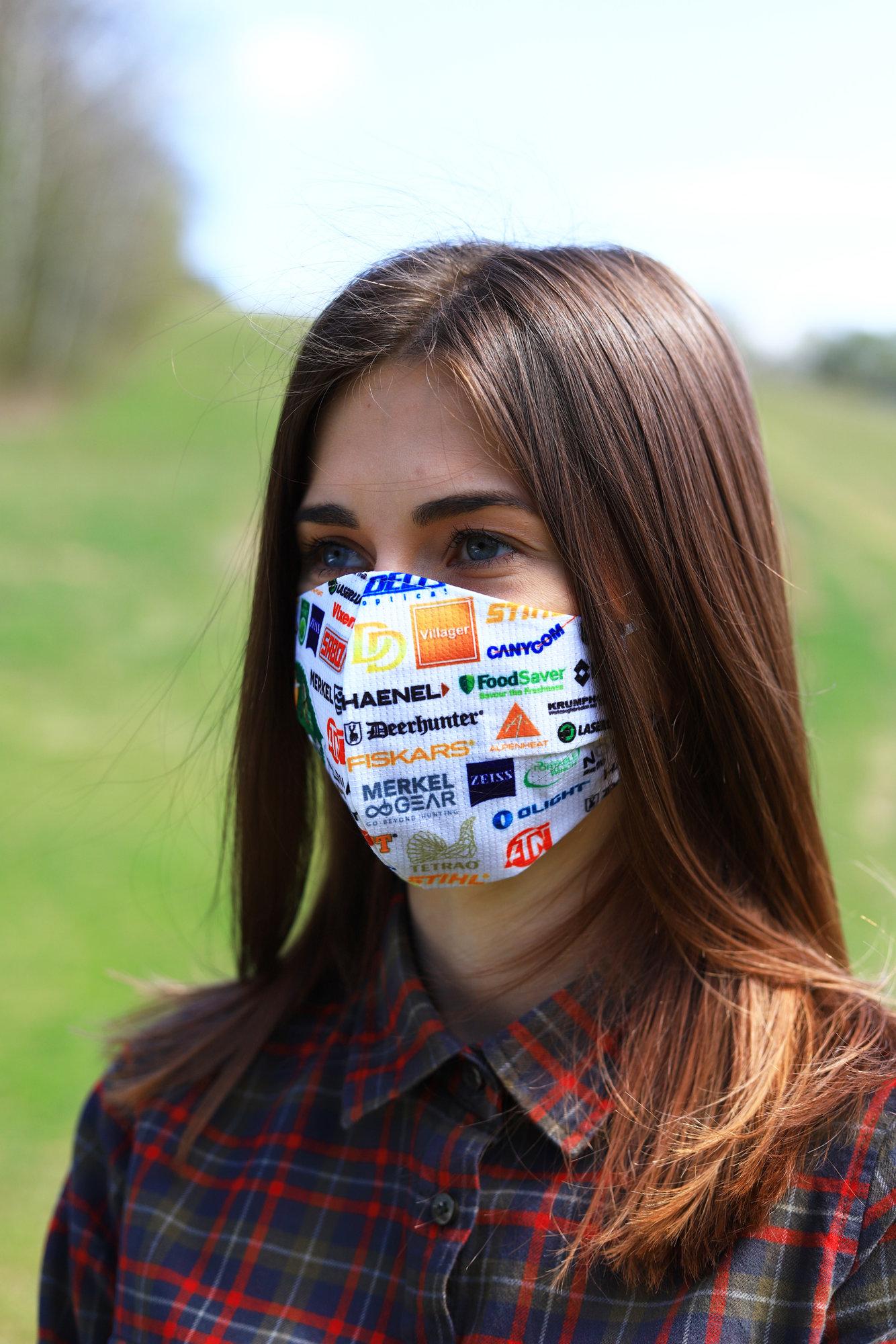 TETRAO bavlnená ochranná maska na tvár - reklamné značky IBO