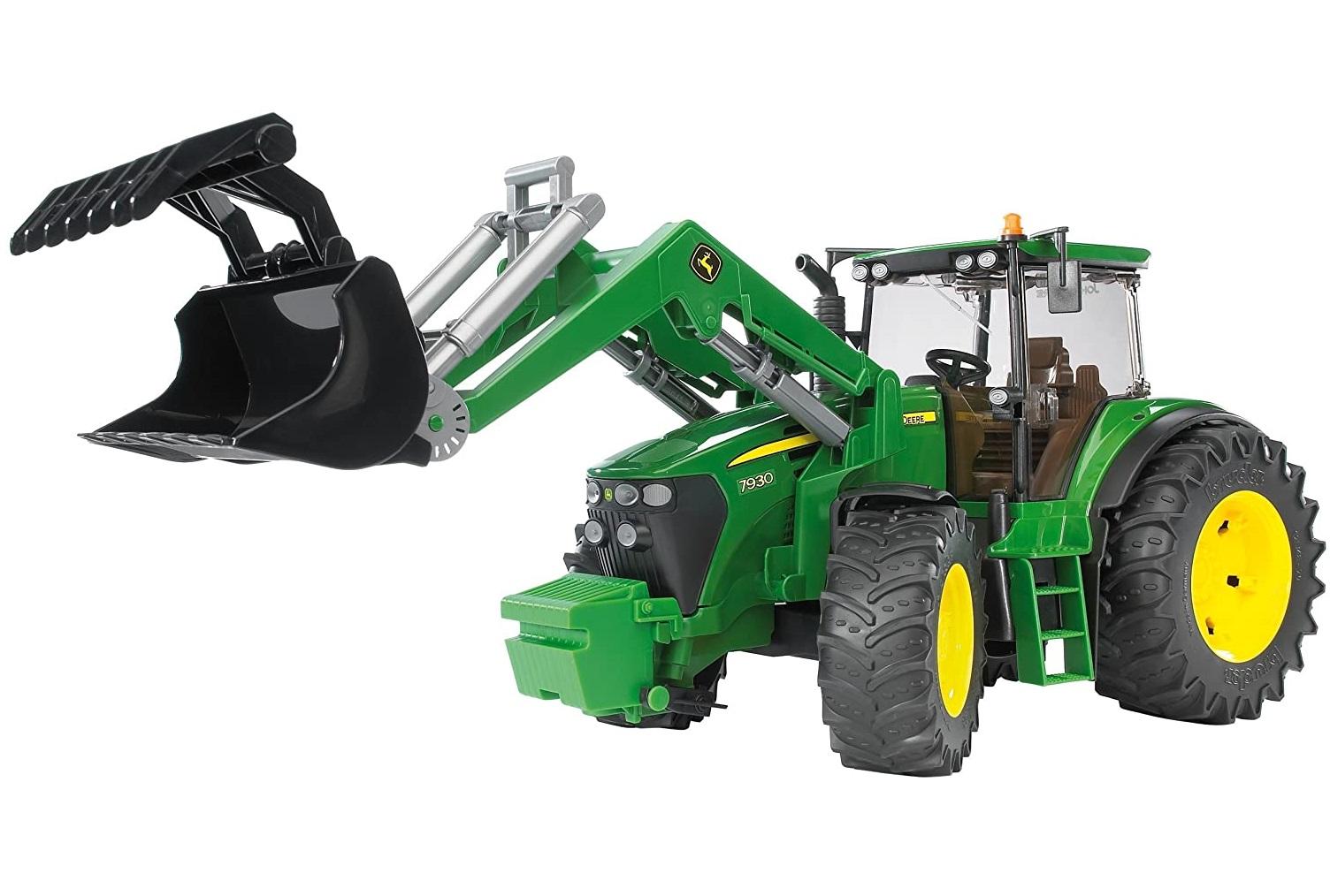 Traktor John Deere 7930 + čelný nakladač BRUDER
