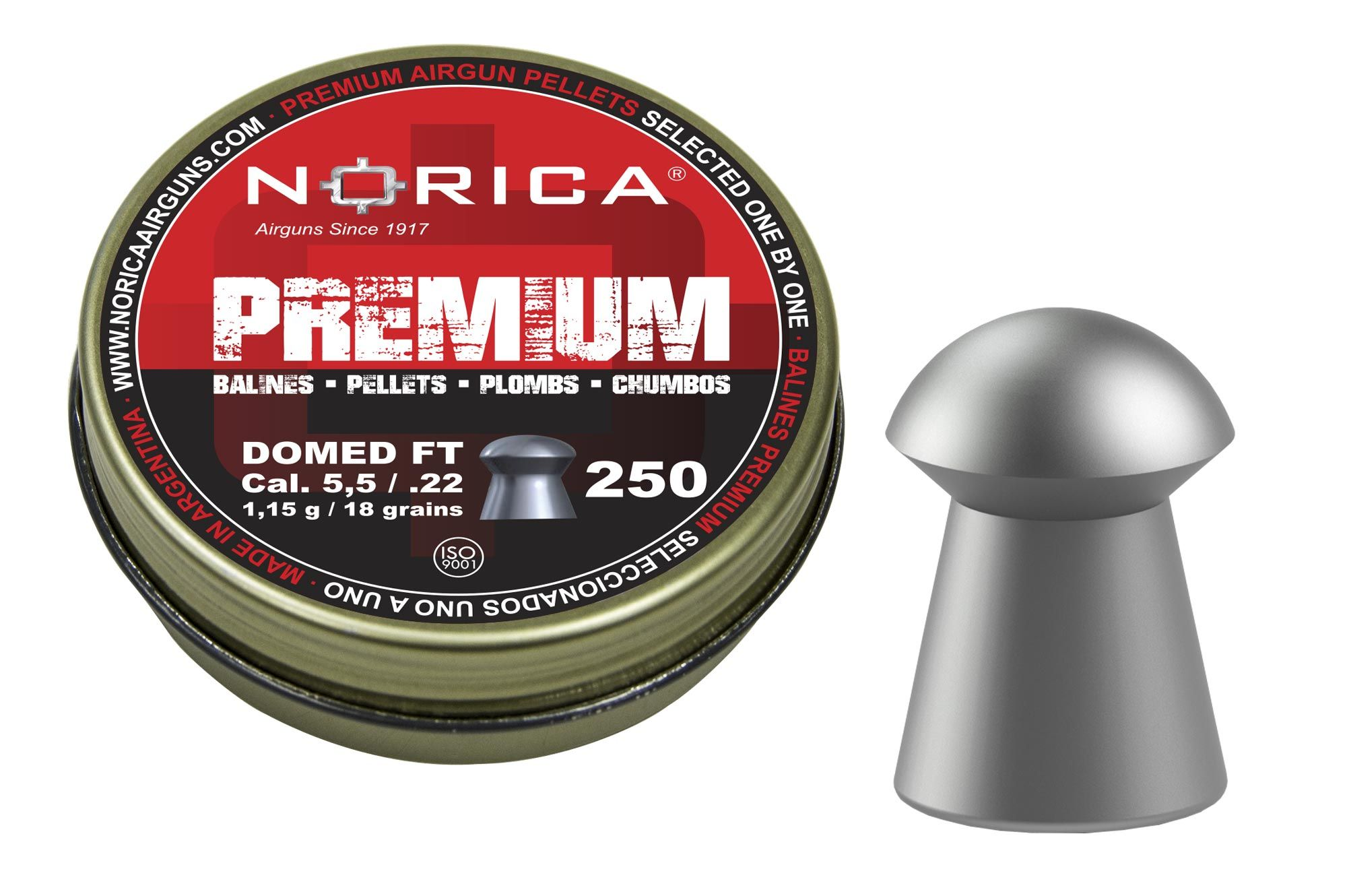 Diabolky NORICA Premium Domed 5,5 mm 250ks