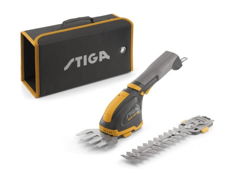 Akumulátorové nožnice na trávu a živý plot STIGA SGM 102 AE
