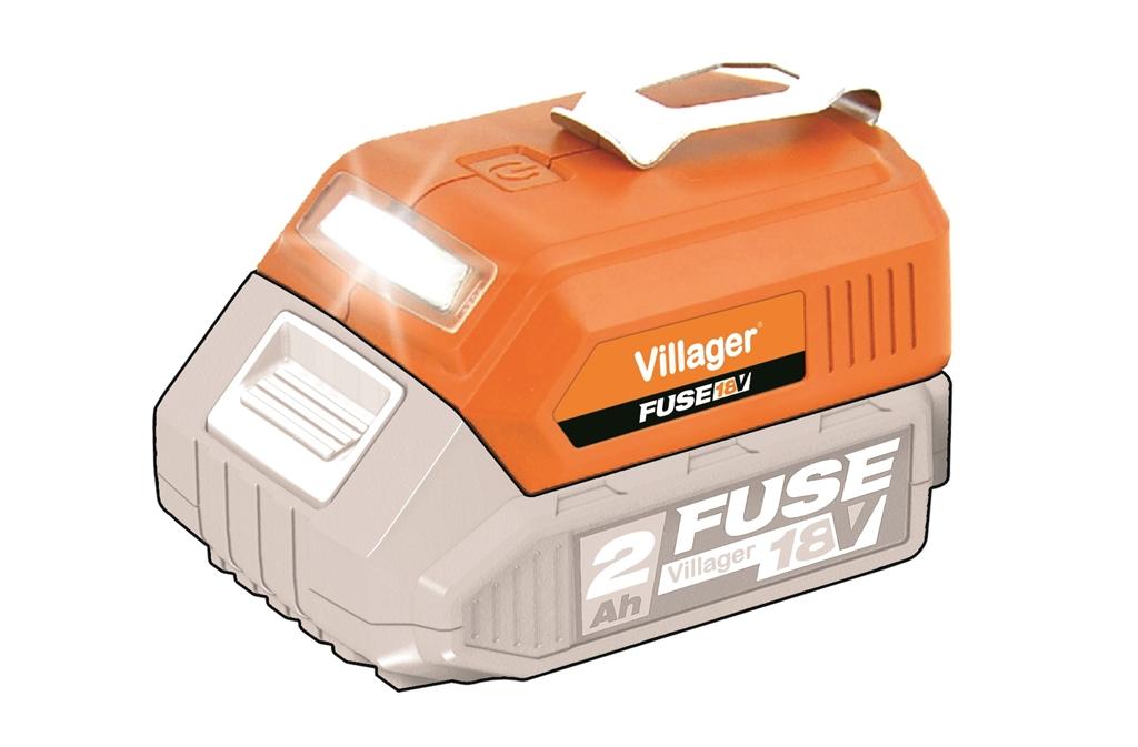 Akumulátorové svietidlo + USB nabíjačka VILLAGER FUSE VLN 9920 (bez batérie a nabíj