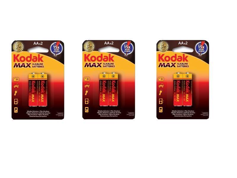 6 ks batérie alkalické AA
