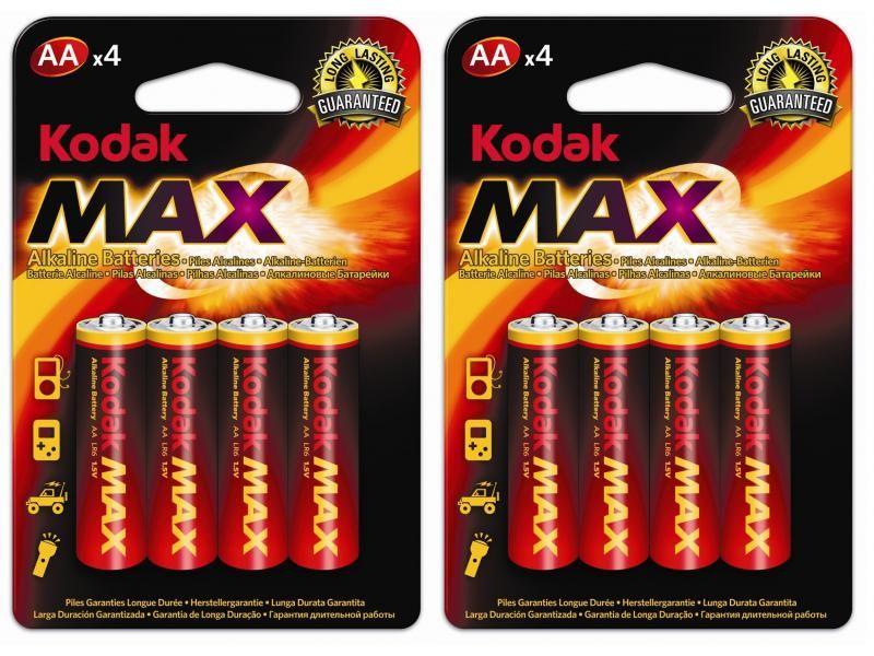 8 ks batérie alkalické AA