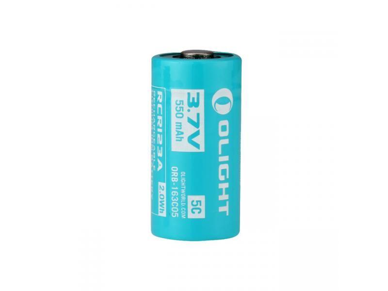 Batéria OLIGHT RCR123A 550 mAh 3,7V nabíjateľná