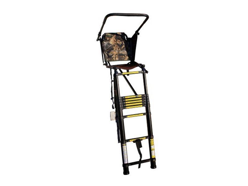 Hliníkový teleskopický rebrík s posedom na čakanú X3M1
