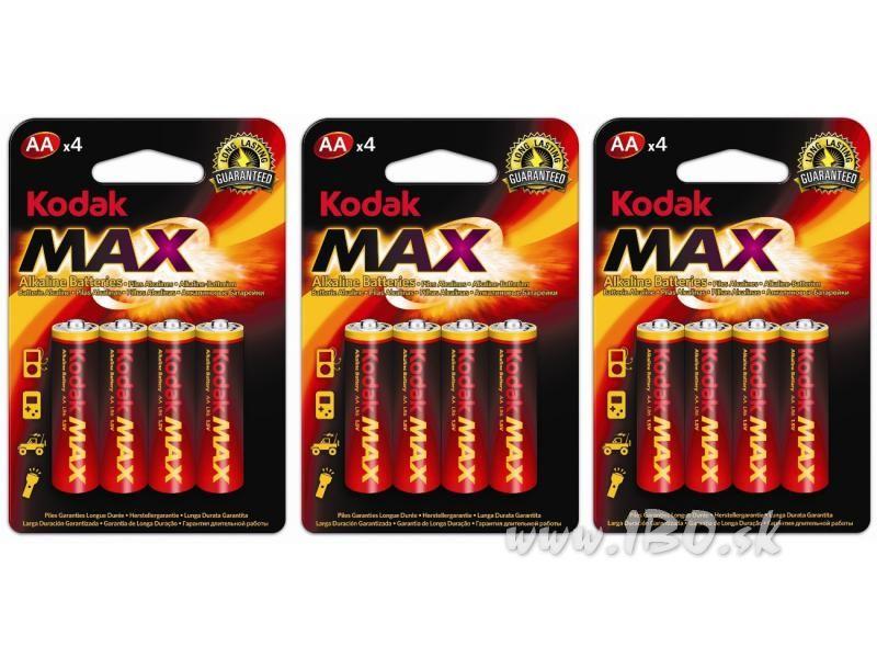 12 ks batérie alkalické AA