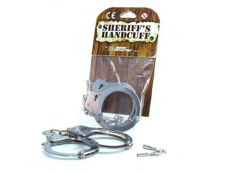 Hračkárska zbraň Handcuffs Metal