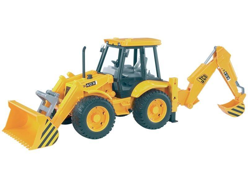 Traktor JCB 4CX s čelným nakladačom a lyžicou BRUDER