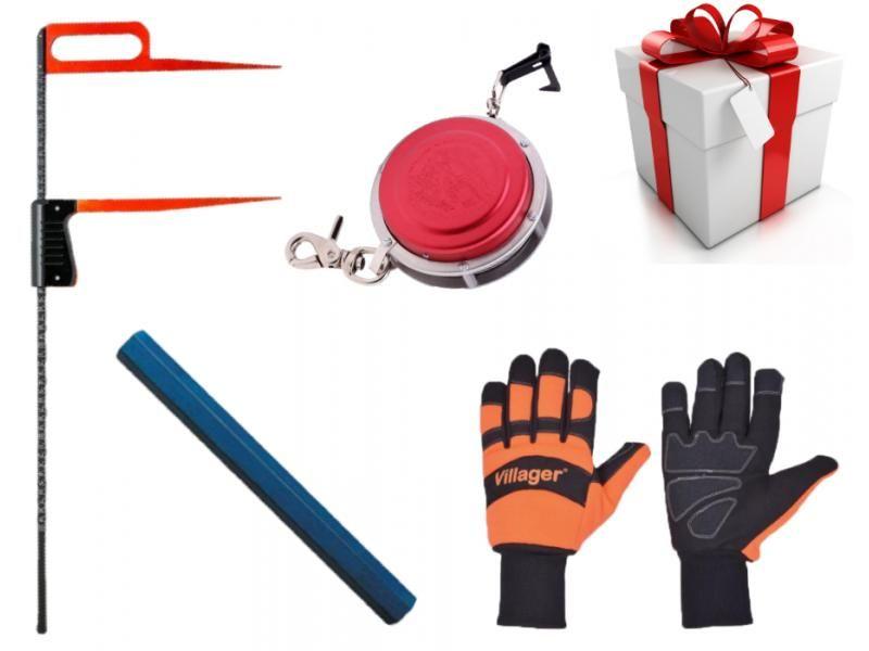 Darčekový set - Lesnícke pásmo, kriedy, rukavice, priemerka