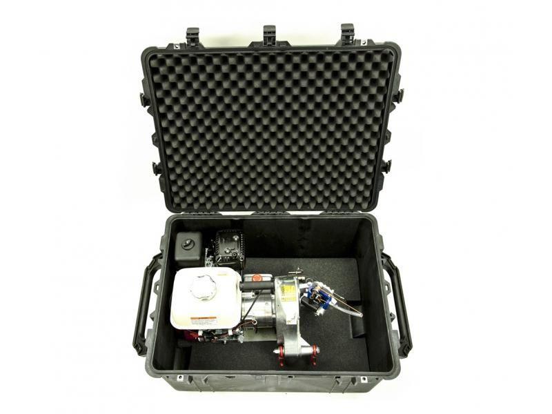 Vodeodolný a vzduchotesný kufor s kolieskami PORTABLE WINCH PCA-1630