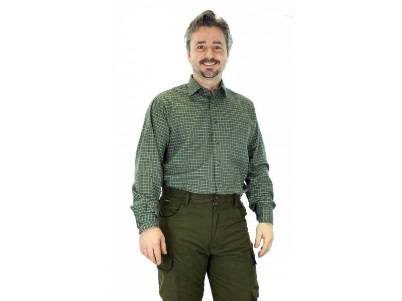 Pánska jemne károvaná košeľa s dlhým rukávom  47