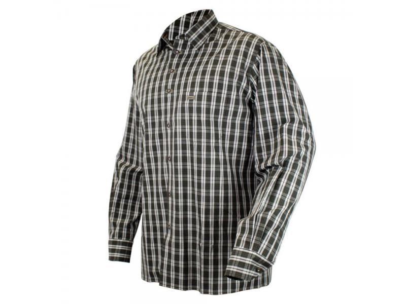 Pánska károvaná košeľa s dlhým rukávom
