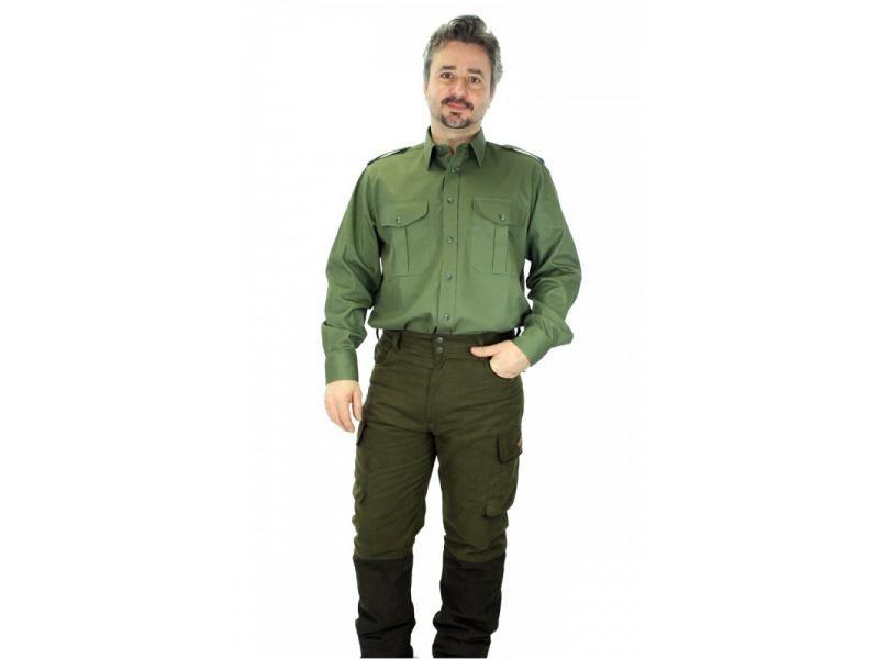 Pánska olivová košeľa s dlhým rukávom  39