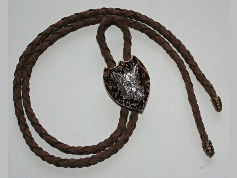 Poľovnícka kravata diviak hlava