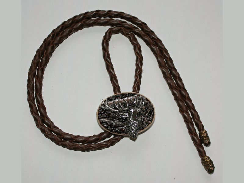 Poľovnícka kravata jeleň-hlava