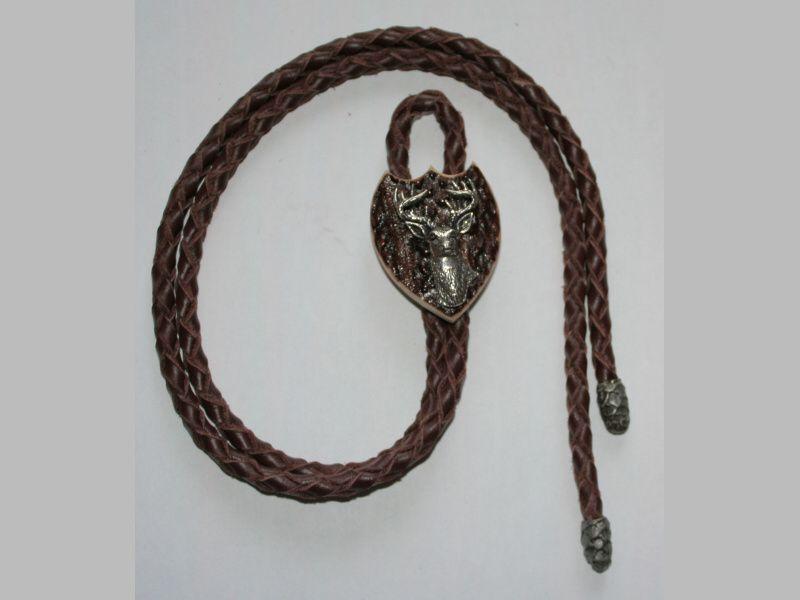 Poľovnícka kravata jeleň hlava