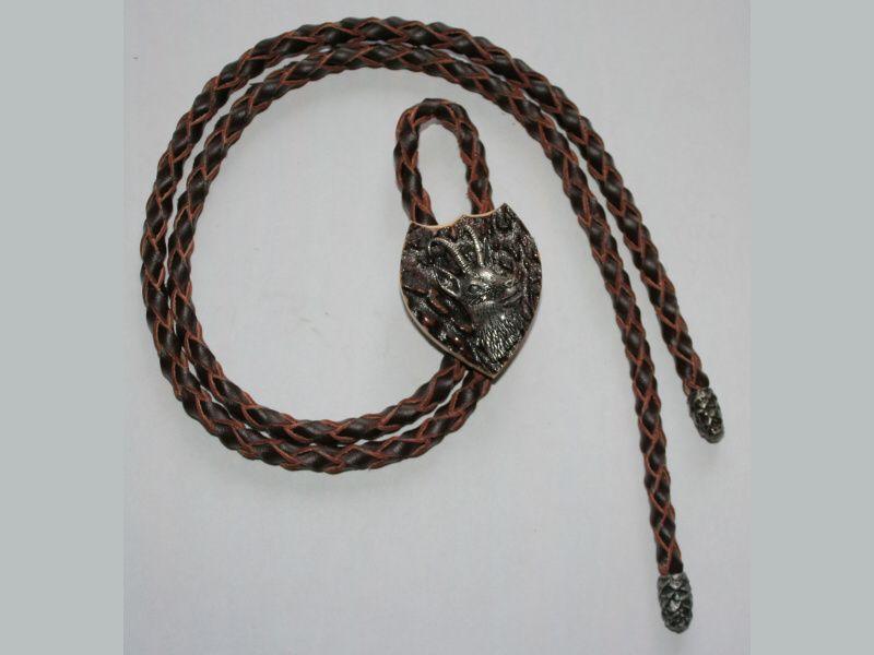 Poľovnícka kravata kamzík hlava