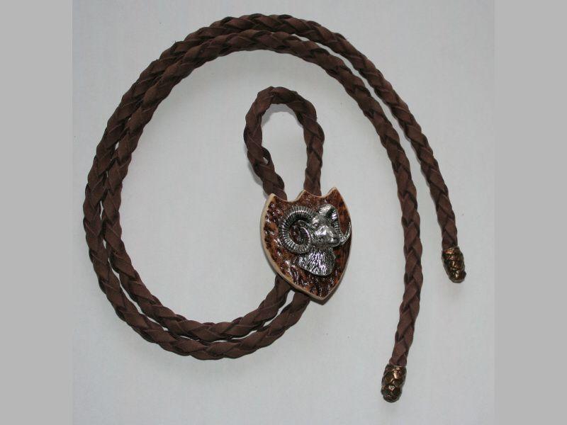 Poľovnícka kravata muflón hlava