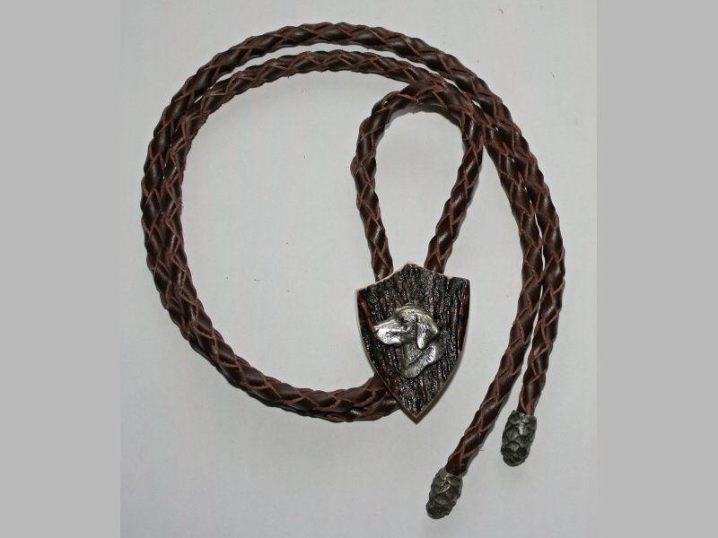 Poľovnícka kravata pes-hlava