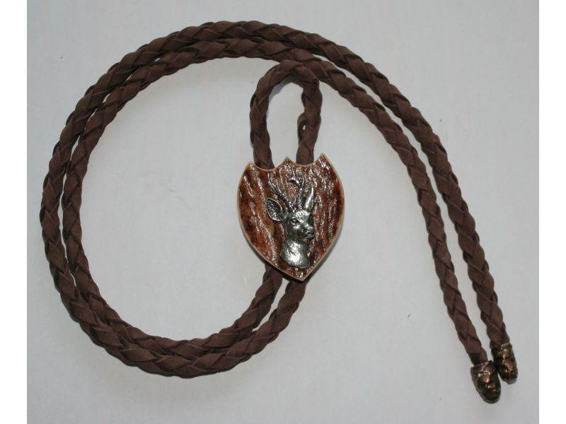 Poľovnícka kravata srnec hlava
