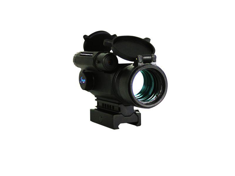 Laser Reflex kolimátor BeringOptics s laserom hore