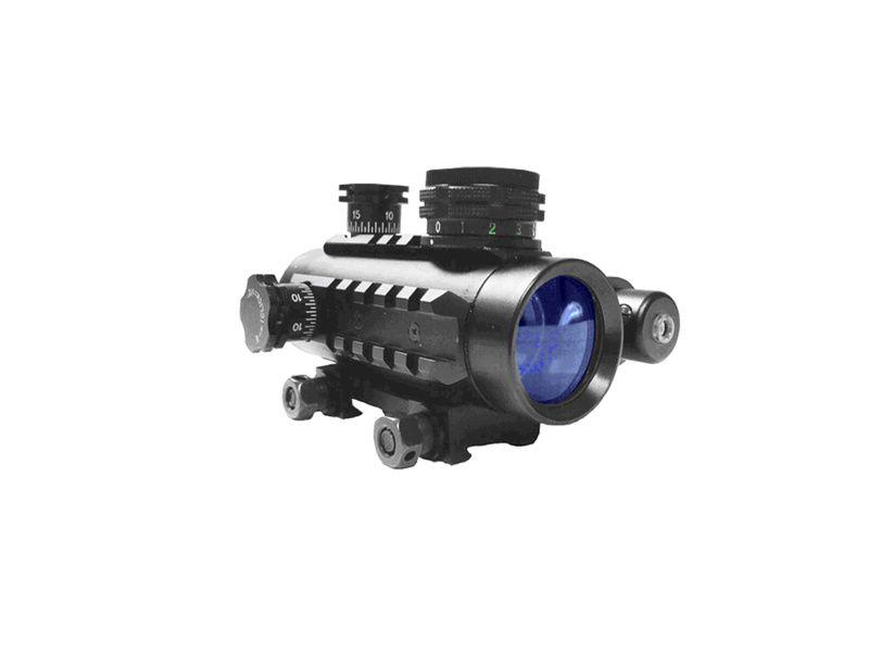 Precision reflex kolimátor s laserom a tri farby bodky