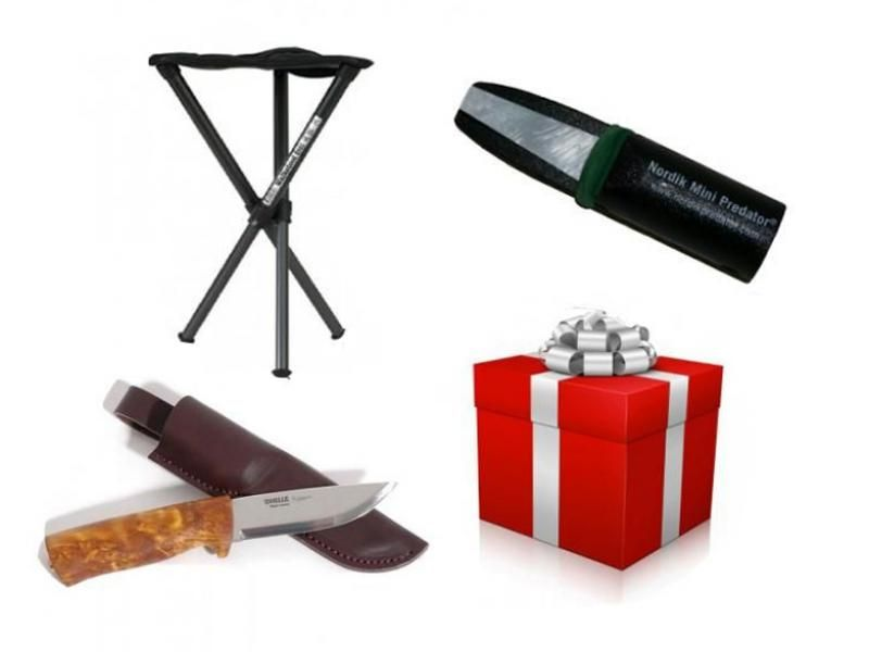 Darčekový set - Stolička Walkstool + Poľovnícky nôž Helle + Vábnička na líšky Nordi
