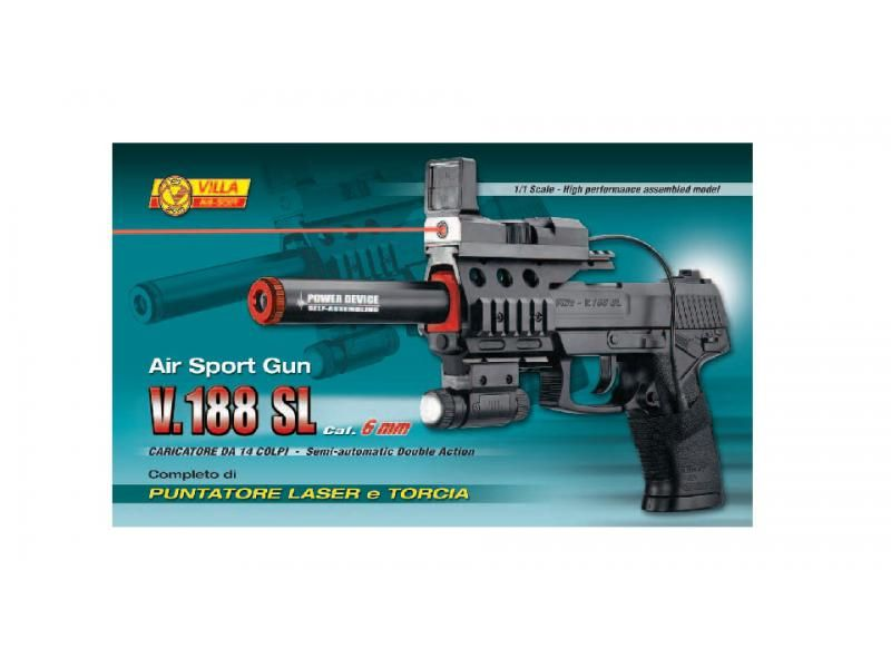 Airsoftová zbraň V-188 SL LASER + LIGHT AIR SOFT