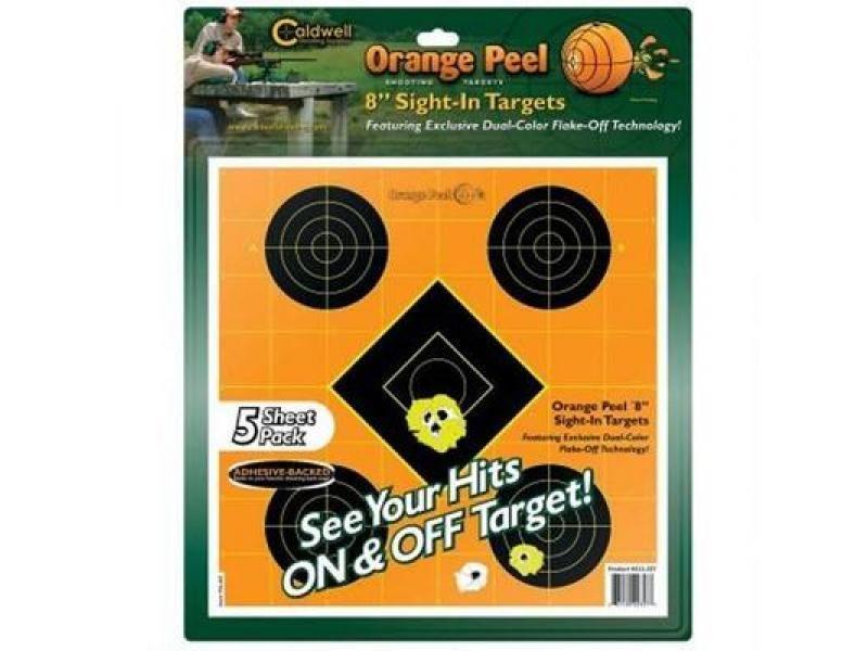 Aktívne papierové terče Caldwell orange peel 5 ks